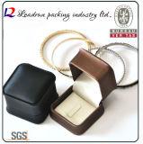 Rectángulo de regalo de cuero del embalaje de la joyería del rectángulo de almacenaje de la joyería del terciopelo (Ys309)