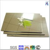 Панели золота серебряным анодированные зеркалом алюминиевые составные с импортированным материалом