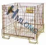 Stapelbarer galvanisierter faltender Draht-Metallbehälter