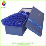 Boîte-cadeau de papier de empaquetage de fleur d'estampage d'or