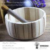 Hongdao 뚜껑 Wholesale_L 없는 주문 나무로 되는 둥근 전시 상자