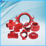 Iron duttile Grooved Pipe Fitting Cross con FM/UL Approved