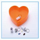 Mini contenitore di memoria della medicina della catena chiave/casella di plastica portatili della pillola