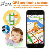 GPS WiFi Lbs 추적자 컬러 화면 출력 장치 아이 전화 시계 (D15)