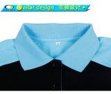 Chemise de polo de dames de douille de Raglan d'impression de mode