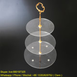 3 Tiers Clear Round Shape Acrylic Cake Display Stand