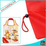 Sacs à provisions de promotion de polyester, sacs faits sur commande de polyester