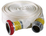 50mm 8bar Polyester Filament Jacket White de Brandslang en Layflat Hose van pvc Lining Flexible