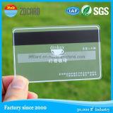De plastic Transparante het Bezoeken Kaarten van pvc van identiteitskaart Card/RFID