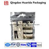 Chaussettes en plastique empaquetant le sac avec la tirette