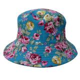 Chapéu da cubeta com tela floral (BT076)
