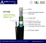 Messengerの自己Supporting、図8、Aluminum Tape ArmouredのGytc8a Optical Fiber Cable
