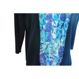 Suéter puro de las mujeres del suéter del color de la nueva manera (que hace punto con el encaje de fantasia)