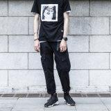 Das calças longas da Vapor-Tubulação da forma dos homens do OEM calças ocasionais