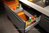 Moderne italienische stilvolle Orangen-u. Brown-Lack-hölzerne Küche-Schrank-Möbel