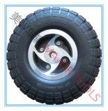 Sedia a rotelle elettrica della scanalatura rotella 4.10/3.50-4 della gomma di gomma piuma dell'unità di elaborazione del motorino da 10 pollici