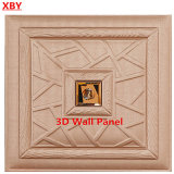 tarjeta decorativa de cuero de la PU del panel de pared de la decoración 3D