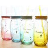 Rundes Glass Jar Mason Jar mit Print Writing