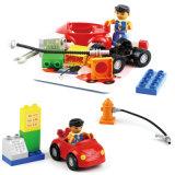 Pädagogischer Plastik der Spielzeug-Tankstelle-DIY blockt Spielwaren