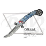 "5 "" Closed Folding Gift Knife com Colored Handle: 4pn76-50grb"