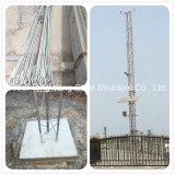 Torretta mobile tubolare d'acciaio galvanizzata di telecomunicazione del cavo di ancoraggio del TUFFO caldo
