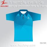 高品質のHealongの方法デザイン衣類の昇華人のポロシャツ