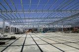 Fertighaus Isolierstahlkonstruktion-Lager, das vor Gebäude ausführt