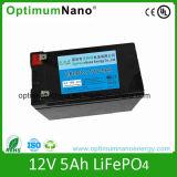 Rechagreable 12V 5ah Lithium-Ionenbatterie für Mini-LED-Licht