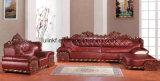 Sofá moderno de madeira do Recliner do couro da sala de visitas (UL-NSC101)