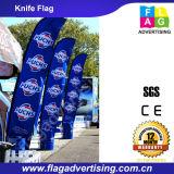 Polyester Fliegen Strand Messer Flagge für Anzeige