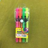Crayon lecteur de barre de mise en valeur de deux extrémités, crayon lecteur fluorescent