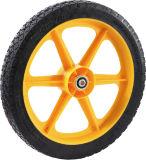 Neumático negro de la carretilla de la PU 14*1.75