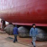 Gummilieferung, die heraus Marineheizschlauch, Marineluft-Ballon, aufblasbarer Rollen-Beutel für Behälter-Ladung und Zug startet, um zu unterstützen, zu retten u. schweres Anheben