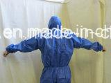 Fábrica Atacado de alta qualidade barato Preço Water Proof Descartável Spp / SMS macacões com Hood