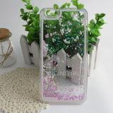 para iPhone6s fluyen los conjuntos creativos dinámicos líquidos de la gota del shell de la protección del teléfono móvil de la arena