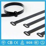 (Blanc, noir, etc.) serre-câble en nylon coloré, serre-câble d'acier inoxydable, serre-câble libérable, individu verrouillant le serre-câble