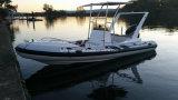 Barco de pesca inflável rígido de /Rib do barco de motor de Aqualand 21feet 6.5m (RIB650c)