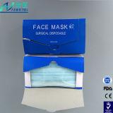 Masque facial non-tissé médical protecteur jetable Couleur bleue