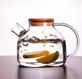 1Lヨーロッパの普及したガラス茶鍋の冷たい飲むるつぼガラスのやかんの花の茶鍋の水まき缶