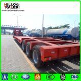 3 [لينس] 6 محور العجلة 150 طن منخفضة سرير شاحنة [سمي] مقطورة لأنّ عمليّة بيع