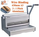 A3 Size Book Binding (CW430)를 위한 수동 Double Wire Binding Machine