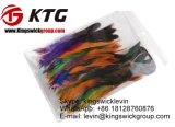 Penas coloridas de venda de Schlappen do galo do bronze da metade de galinha de turquesa da venda de maioria as melhores para a mostra