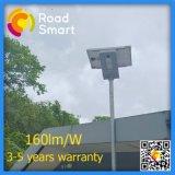 5years luz de calle solar de la garantía 15W-50W LED con Ce