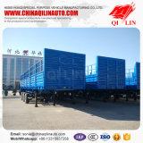 De 3 essieux de frontière de sécurité remorque de camion de remorque semi avec le mur latéral de 1000mm