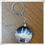 Catena chiave religiosa di vendita di modo della medaglia di vetro calda nuova del cuore (IO-ck084)