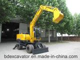 Pequeño compartimiento de los excavadores 8.5ton/0.3m3 de la rueda de Baoding con el mejor precio