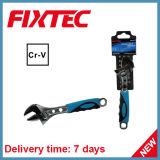 """La mano di Fixtec lavora una chiave registrabile di 12 """" CRV con la maniglia di plastica"""