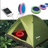 Indicatore luminoso di campeggio solare con l'indicatore luminoso solare del giardino del caricatore dell'indicatore luminoso solare variopinto mobile della tenda per l'emergenza