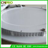 18W luz del panel ultra delgada de la dimensión de una variable redonda LED