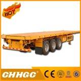 De Chhgc 3 d'essieu de conteneur remorque à plat de faible puissance semi